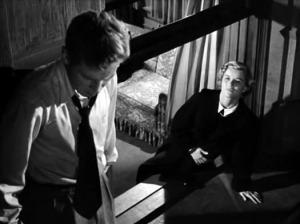 "Richard Basehart and Barbara Bel Geddes in ""Fourteen Hours"" (1951)"