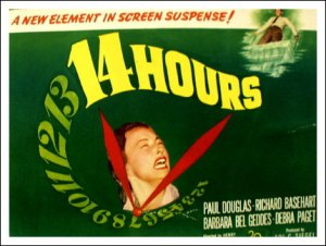 "Richard Basehart and Paul Douglas in ""Fourteen Hours"" (1951)"