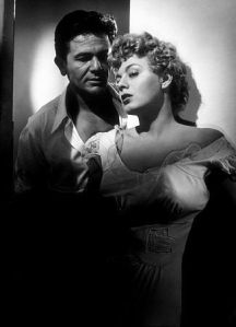 "John Garfield and Shelley Winters in ""He Ran All the Way"" (1951)"